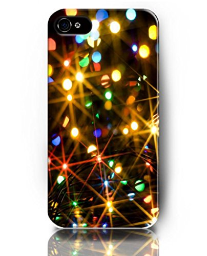 Ukase Creative Cases Christmas Designed For Iphone 4/4S With Special Paint Of Colorful Light Beams