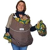 Mamidea - Cobertor para portabeb�s deluxe, wengu�/medall�n