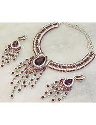 Elegant Elements Party Wear Stylish N Elegant Zircon N Colored Stone Jewelery Set For Women EEN18