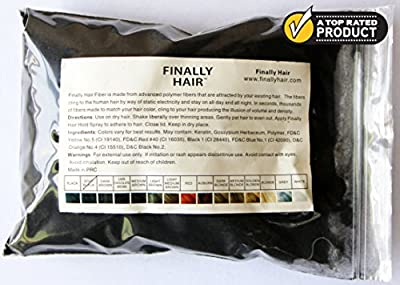 Hair Building Fibers 50 Gram Refill Plus 4.1 oz. Strong Fiber Lock Spray - Refill Your Existing Bottle. Highest Grade Fiber By Finally Hair (Medium Salt & Pepper - Dark Brown with Touch of White Special Formula)