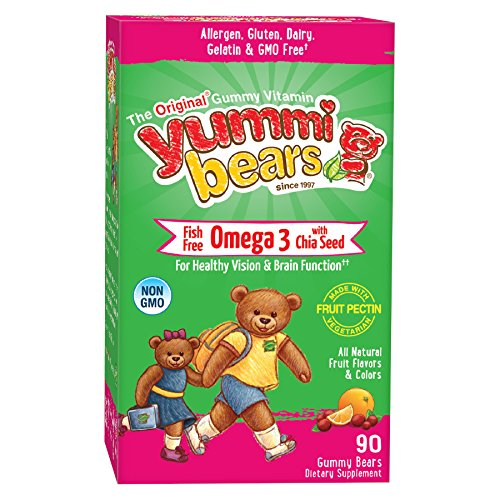 Yummi Bears Fish Free Omega 3 with Chia Seed Supplement for Kids, 90 Gummy Bears (Child Omega 3 compare prices)