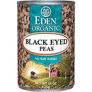 Eden Organic Black Eyed Peas, No Salt Added, 15-Ounce Cans (Pack of 12)