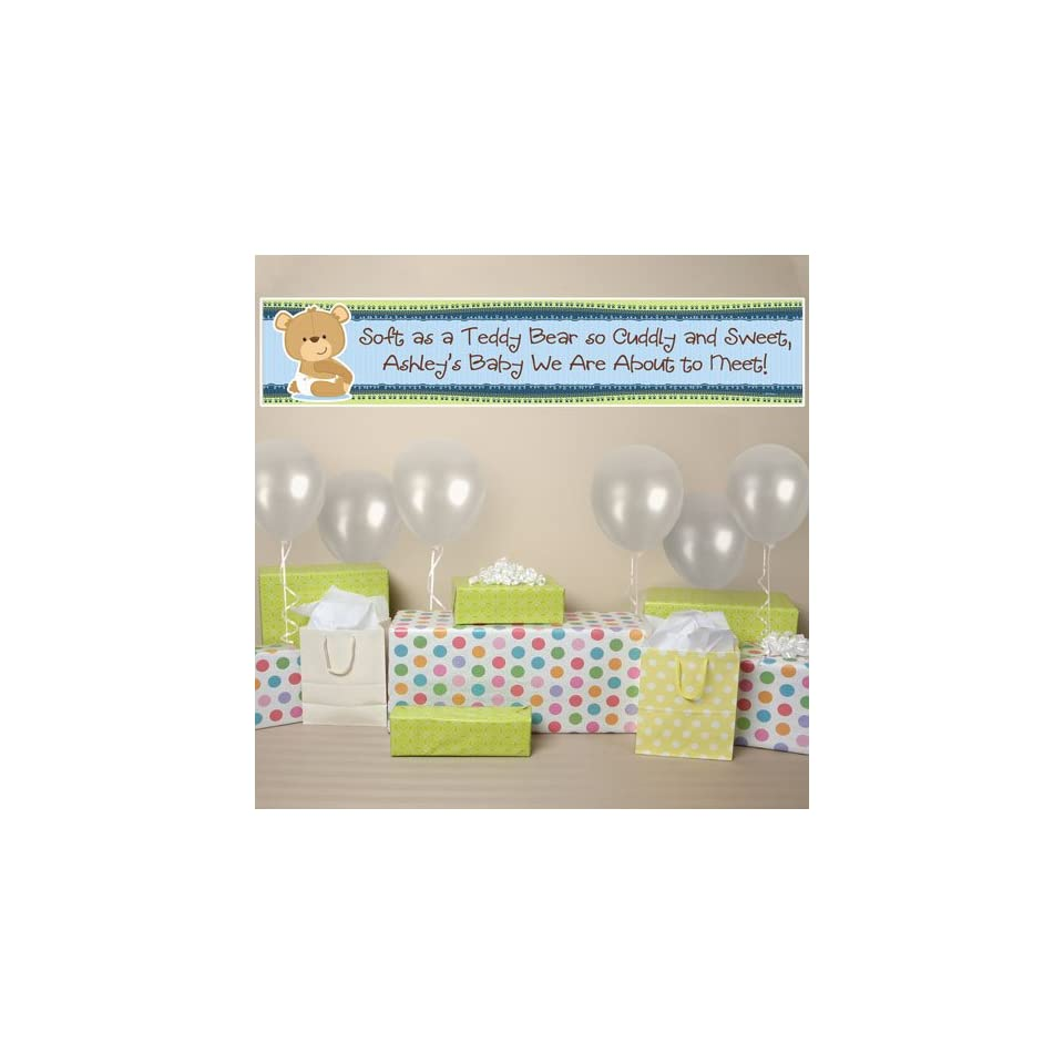 Banner   Baby Boy Teddy Bear   Personalized Baby Shower Banner