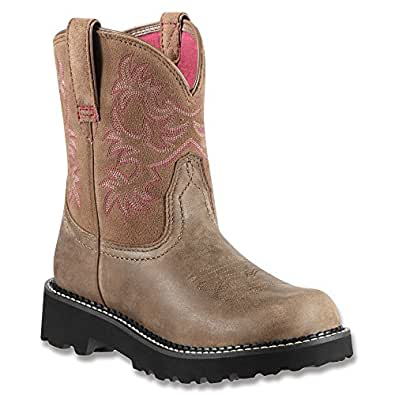 Ariat Women's Fat Bomber Cowgirl Boot Round Toe Brown 5.5 M US