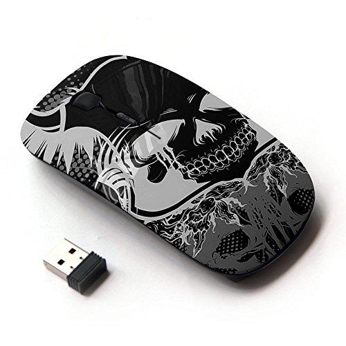KOOLmouse [ Mouse Senza Fili Ottico 2.4G ] [ Death Metal Heavy Music Skull Horns ]
