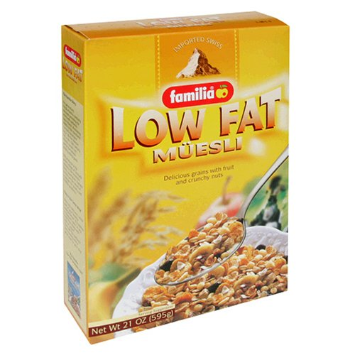 Familia Low-Fat Muesli Cereal, 21-Ounce Boxes (Pack of 6)