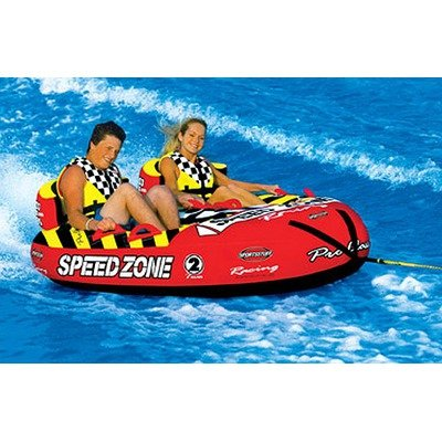 Image of SpeedZone 2 Towable Tube with Optional 2K Tow Rope (B004MV20J2)