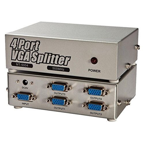 Panlong� VGA Video Order Amplifier Splitter Box Extender 500MHz VGA XGA SVGA UXGA QXGA WUXGA 1 In 4 Out 1 PC to 4 CRT LCD Monitors Projectors (1x4)