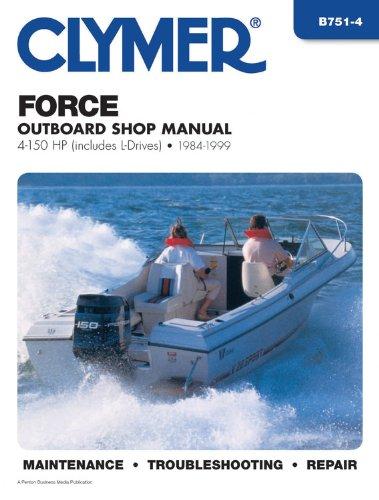 clymer force outboard shop manual 4 150 hp includes l. Black Bedroom Furniture Sets. Home Design Ideas