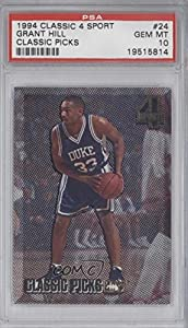 Grant Hill PSA GRADED 10 # 24,900 Detroit Pistons (Trading Card) 1994 Classic 4 Sport... by Classic Sport