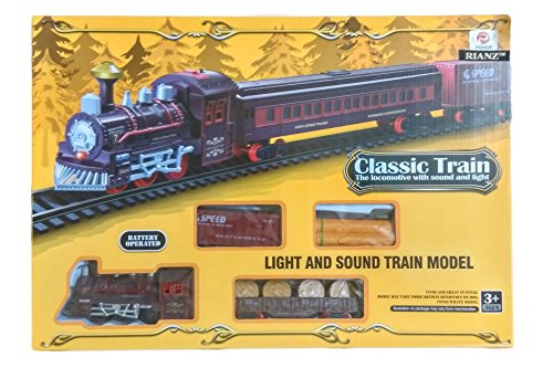 RIANZ Electric Classic Train Set The Locomotive Toy With Sound And Light For Kids