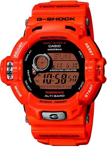 CASIO (カシオ) 腕時計 G-SHOCK RISEMAN Men in Rescue Orange タフソーラー 電波時計 MULTIBAND6 GW-9200RJ-4JF