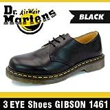 [ドクターマーチン]Dr.Martens 3アイ シューズ ギブソン 1461 ブラック スムース 3ホール #11838002[並行輸入品] 27.0(UK8/US9)