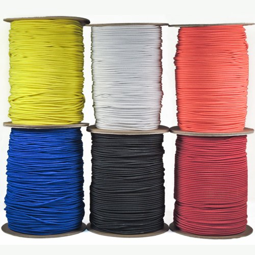 Paracord Planet 1/8″ Shock Cord in Various Colors – Choose from 10, 25, 50, and 100 Feet, Made in USA