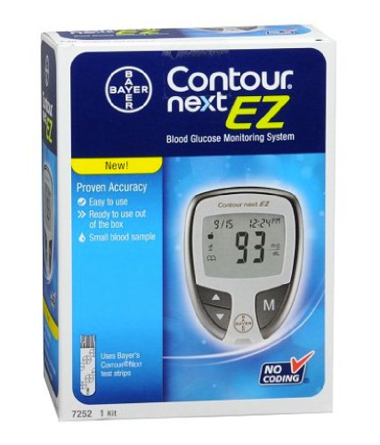 Bayer Contour Next EZ High Blood Sugar Continuous Glucose Monitoring System Best Diabetic Symptoms Meter.