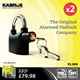 2 x Kabrus Smart Multi-Purpose Alarmed Padlocks / Security Siren Alarm Padlocks for Home, Garden, Garage, Garden Sheds, Greenhouses, Bikes, Motorbikes, Motorcycle, Vehicle Trailers, Equestrian and much More (TWIN PACK LISTING)by Kabrus Smart Lock...
