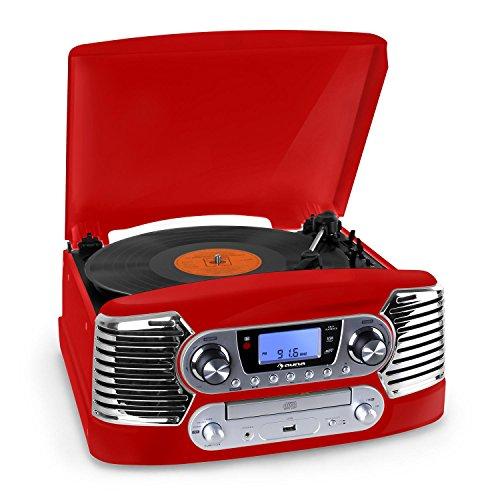 auna-rtt-885bk-impianto-audio-compatto-vintage-con-giradischi-registratore-cd-2-casse-encoding-vinil