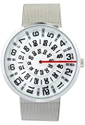 YouYouPifa Unisex Special Design Dial Stainless Steel Quartz Business Wrist Watch (White)