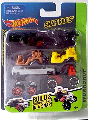 Snap Rides Team Hot Wheels Bone Shaker Custom Car Set - Create Build & Race