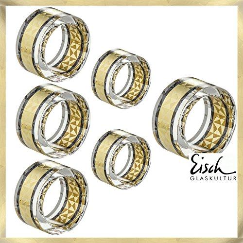 Eisch Serviettes Delor-Lot de 6Anneau-Diamètre 50mm-Eisch verres du fabricant primé Verre No 1niche Eisch