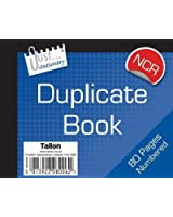 numbered duplicate receipt book half size - no carbon required (NCR)