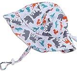 乳児用50+ UPF日焼予防帽子、サイズの調整可能。顎紐付き (S:0—9ヶ月, 綿の帽子: カナダアニマル) ランキングお取り寄せ