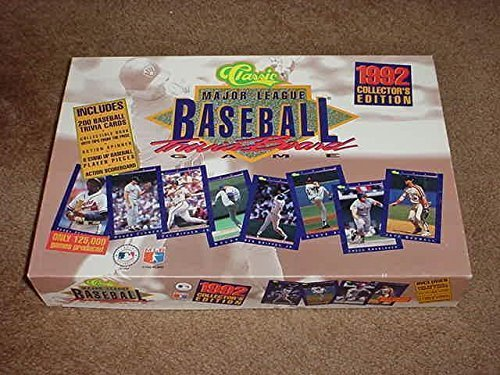 Classic Major League Baseball Trivia Board Game 1992 Collector's Edition