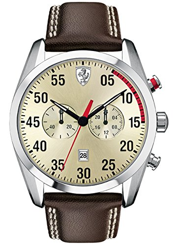 Scuderia Ferrari D 50 Mens Leather Watch 0830174