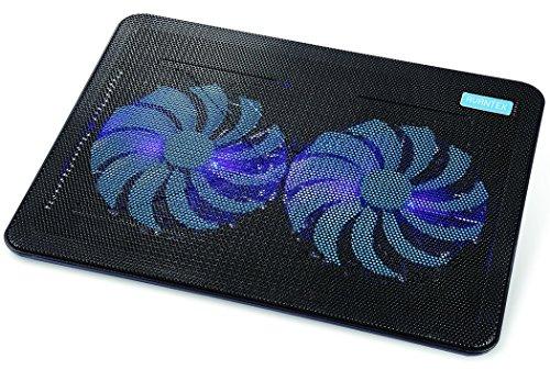AVANTEK 冷却ファン 冷却パッド 超静音ファン PS3 PS4 横置き USB接続 1000 RPM 17インチまで対応 デュアル160mm (2ファン) CP_02