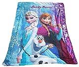 Disney Frozen Olaf , Anna & Elsa Baby Blanket 42 X 53 Inches