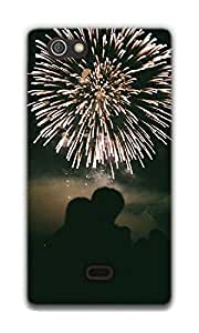 The Racoon Lean Fireworks of Love hard plastic printed back case / cover for Sony Xperia Miro
