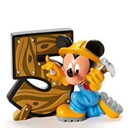 Disney Showcase Mickey Mouse Birthday Age 5 Figurine