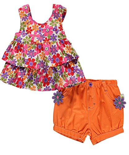 "Duck Duck Goose Baby Girls' ""Butterflies on Flowers"" 2-Piece Outfit"
