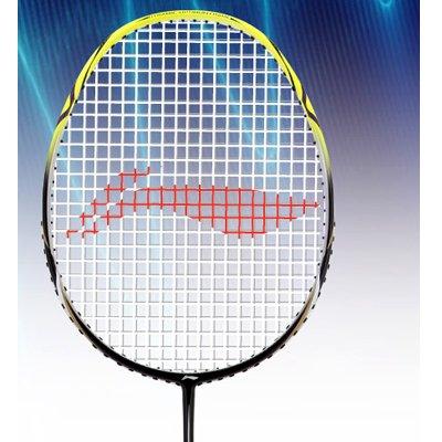 Li-Ning 1 Sonic Carbon Fiber Badminton Racquet, Size S2 (Black/Yellow)