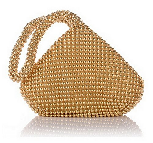 1st Class Luxury Aluminum Sequins Trihedral Designer Clutch Evening Handbag Mini Tote Bags
