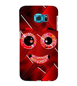 Smiley Cute Looks 3D Hard Polycarbonate Designer Back Case Cover for Samsung Galaxy S6 Edge+ G928 :: Samsung Galaxy S6 Edge Plus G928F