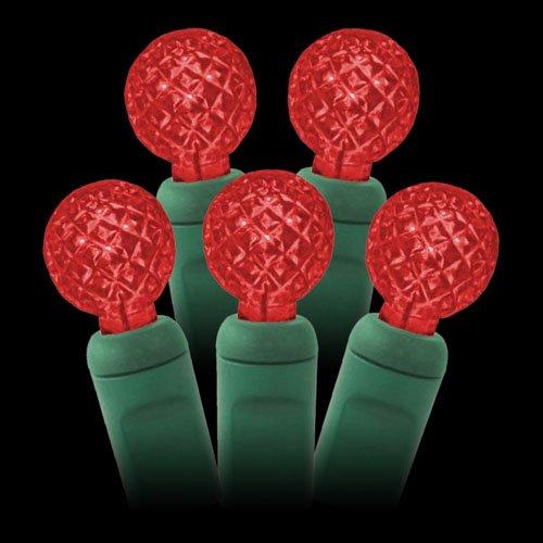 G12 Red Led String Lights 25Ft (50Bulbs) - Berry G12 Christmas Lights