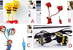 Kuhu Creations Cute Cartoon Designes In-ear 3.5 mm jack Earphone without Mic