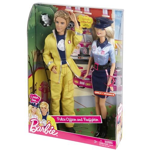 Barbie I Can BePolice Officer and Firefighter