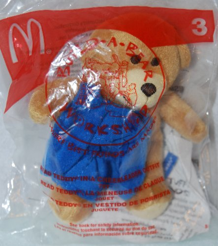 51WI15zfQtL Buy  McDonalds Happy Meal 2006 Build a Bear Workshop   Read Teddy in a Cheerleader Outfit #3