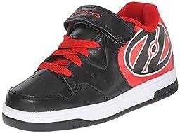 Heelys Hyper Skate Shoe (Little Kid/Big Kid), Black/Red, 2 M US Little Kid