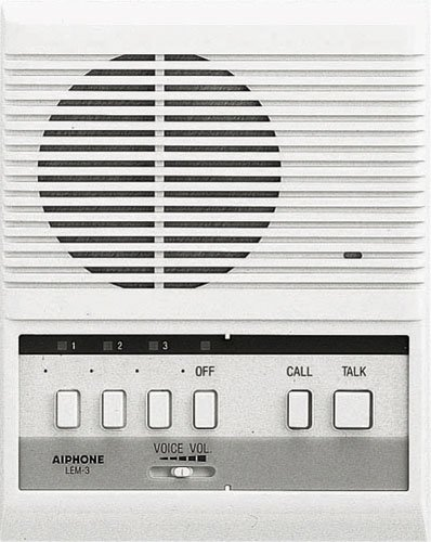 Aiphone Lem-3 Open Voice Selective Call Master Intercom, Accepts Up To Three Door Or Sub-Master Intercoms front-733471