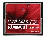Kingston Ultimate 266x - Tarjeta de memoria CompactFlash de 32 GB