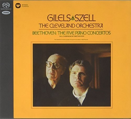 SACD : BEETHOVEN / GILELS,EMIL / SZELL,GEORGE - Beethoven: 5 Piano Concertos (3 Discos)