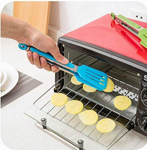 jeu de 2 pinces alimentaires pratiques clips r?i / pain / Steak pince, bleu