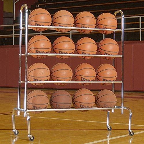 [해외]탠덤 스포츠 4 계층 공 랙 (최대 16 운동 공을 보유)/Tandem Sport 4 Tier Ball Rack (Holds up to 16 Athletic Balls)