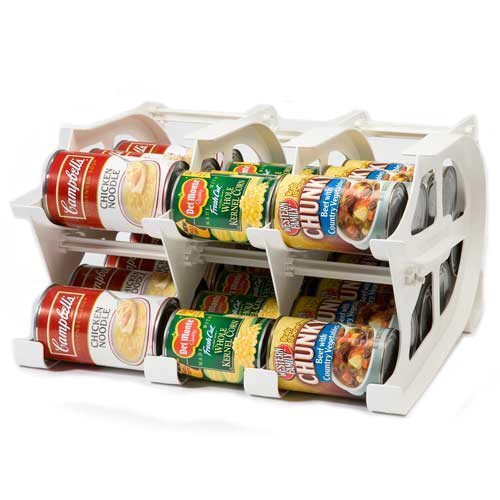 FIFO Mini Can Tracker- Food Storage Canned Foods Organizer/Rotater/Dispenser: Kitchen, Cupboard, Pantry- Rotate Up To 30 Cans (Can Organizer Rack compare prices)