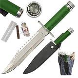 1st Blood Handmade Fixed Blade Survival Knife FREE Survival Kit & Leather Sheath