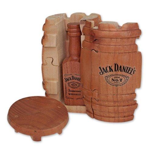 Jack Daniel'S Whiskey Barrel Puzzle Gift Set, Jack Daniel'S Tennessee Whiskey Bottle, 3D Wooden Puzzle Brain Teaser, Exclusive Product, Unique Bar Decor!, Party Game!