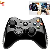 Letv Wireless Gamepad /Controller Dual Motor Vibration 2.4G Game Consolefor 360 / PS3 / PC / BFM - BLACK